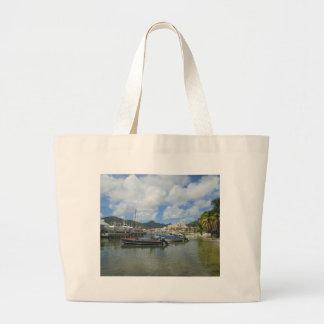 Philipsburg Harbor St. Maarten Large Tote Bag