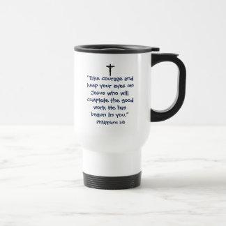 Phillipians 1:6 Travel Mug