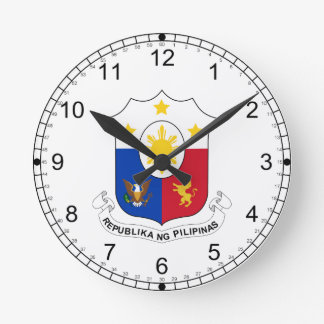 Phillipines Coat of Arms Clock