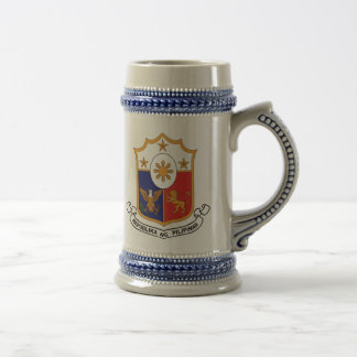 Phillipines Flag / Phillipine Coat of Arms Beer Stein