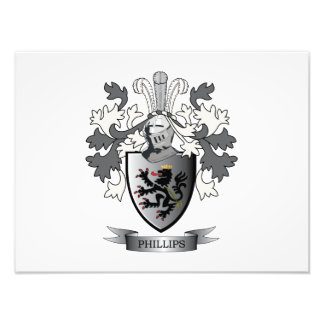 Phillips Family Crest Coat of Arms Photo Print