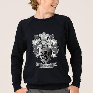 Phillips Family Crest Coat of Arms Sweatshirt