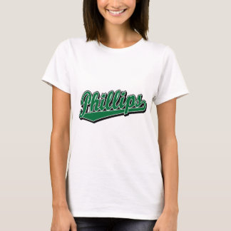 Phillips script logo in Green T-Shirt