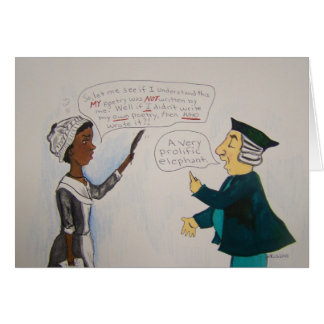 Phillis Wheatley Comic Card