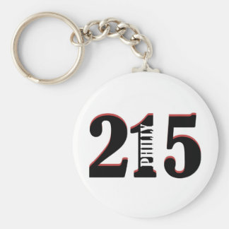 Philly 215 basic round button key ring