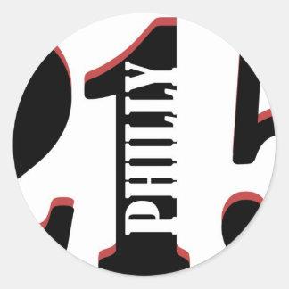 Philly 215 round sticker
