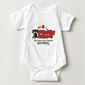 Philly 4 for 4 - Logo only products Baby Bodysuit