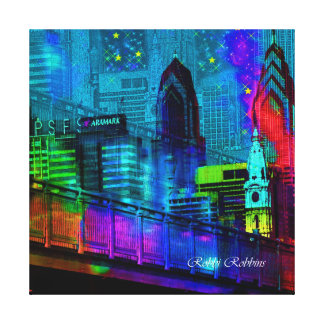 Philly at Night Canvas Print