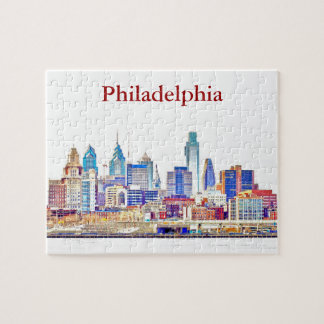 Philly Color Sketch Skyline Puzzle