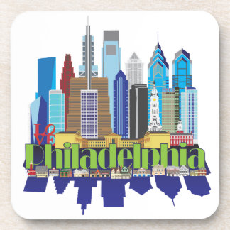 Philly New Icon Beverage Coasters
