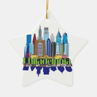 Philly New Icon Ceramic Ornament