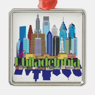 Philly New Icon Metal Ornament
