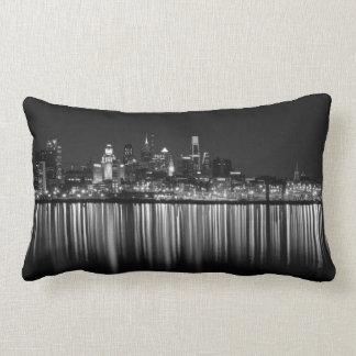 Philly night b/w pillow