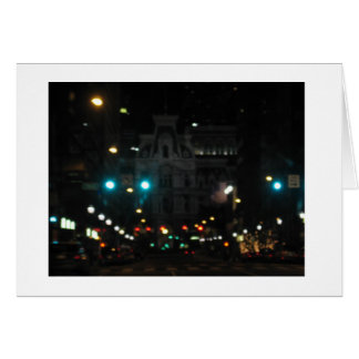 Philly Night Lights Greeting Card