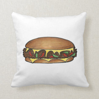 Philly PA Cheesesteak Philadelphia Steak Sandwich Cushion
