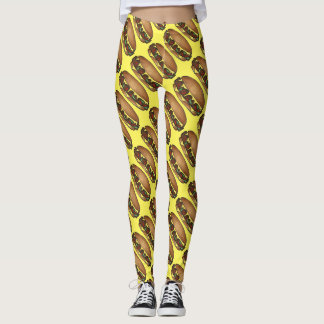 Philly Philadelphia Cheese Steak Cheesesteak Food Leggings