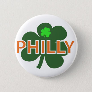 Philly Shamrock Button