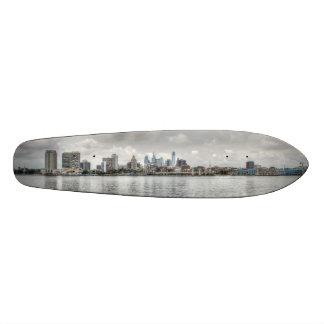 Philly skyline custom skate board