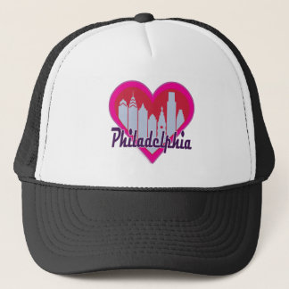 Philly Skyline Heart Trucker Hat