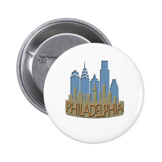 Philly Skyline newwave beachy Button