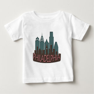 Philly Skyline newwave chocolate Baby T-Shirt