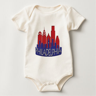 Philly Skyline newwave patriot Baby Bodysuit