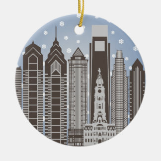 Philly Snowflakes Ceramic Ornament