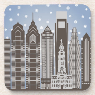 Philly Snowflakes Coasters