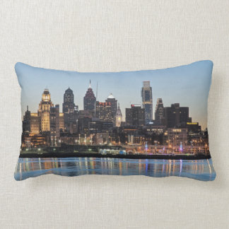 Philly sunset throw pillows