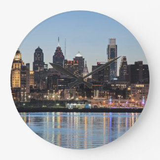 Philly sunset wall clock