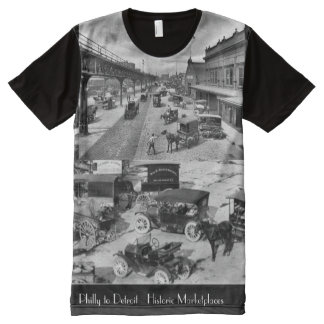 Philly to Detroit Historic Marketplaces All-Over Print T-Shirt