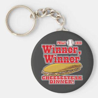 Philly Winner Cheesesteak Dinner Basic Round Button Key Ring