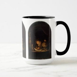 Philosopher Alchemist Studying by Candlelight Mug