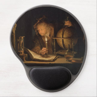 Philosopher Studying by Candlelight Gel Mouse Pad