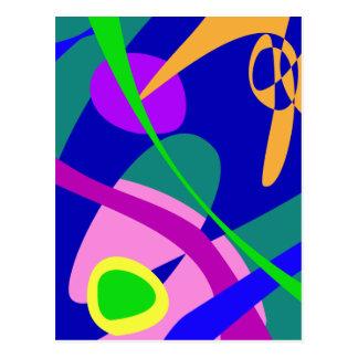 Philosophical Man Digital Abstract Pattern Postcard