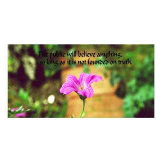 Philosophical quote photo greeting card