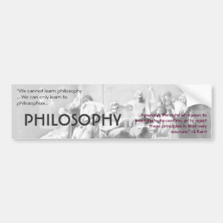 Philosophy Bumper Sticker