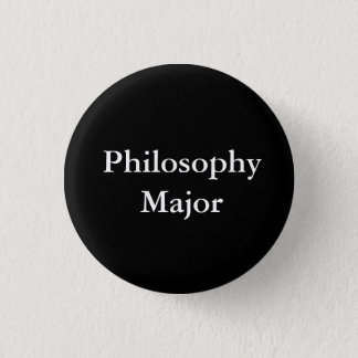 Philosophy Major 3 Cm Round Badge