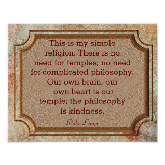 Philosophy Of Kindness - Dalai Lama Quote - Print