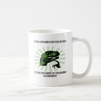 Philosoraptor Progress and Congress Coffee Mugs
