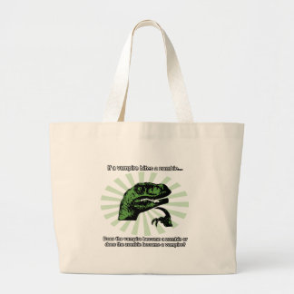 Philosoraptor Vampires and Zombies Jumbo Tote Bag