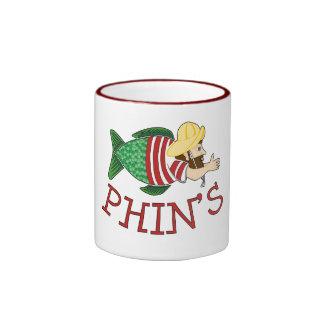 Phin's Cartoon Mug, Red, 15oz Ringer Mug