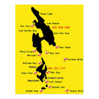PhiPhi Dive Sites - Big Post Cards