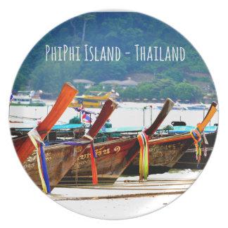 Phiphiisland postcard edition plate