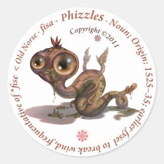 Phizzles Origin Round Sticker