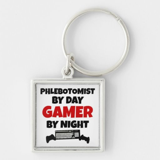 Phlebotomist by Day Gamer by Night Keychains