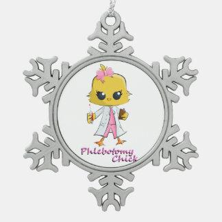 Phlebotomy Chick Snowflake Ornament