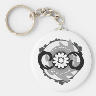Phlowery Basic Round Button Key Ring