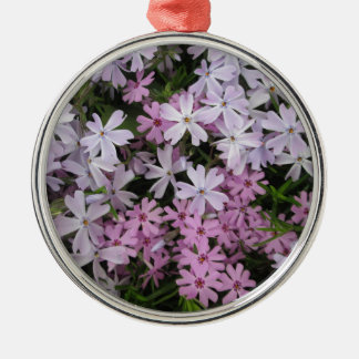 Phlox Light Pink Silver-Colored Round Decoration