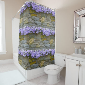 Phlox On Rocks Shower Curtain